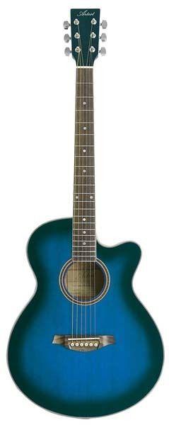 artist lspsceqtbb beginner acoustic electric guitar small body blue. Black Bedroom Furniture Sets. Home Design Ideas