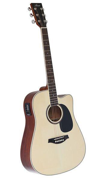 factory 2nd artist lspceqnt beginner acoustic electric guitar pack natural. Black Bedroom Furniture Sets. Home Design Ideas