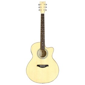Artist JB300NT Acoustic Guitar, Solid Top Jumbo-Large