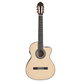 Artist CS100CEQ Classical Guitar, Solid Spruce Top with Cutaway & EQ
