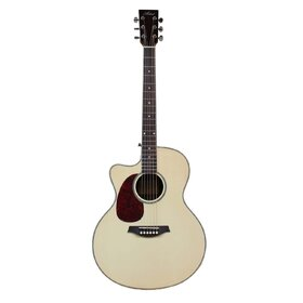 Artist JUMBCEQL Left Hand Acoustic Guitar, Solid Top, Jumbo-Large