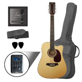 Artist LSP12CEQNT Beginner 12 String Acoustic Guitar Pack with EQ