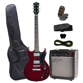 Artist SGPKRD Electric Guitar Plus Amp and Accessories - Red
