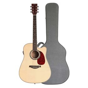 Artist DS120CEQ+C Acoustic Guitar, Solid Top Dreadnought with EQ +Case