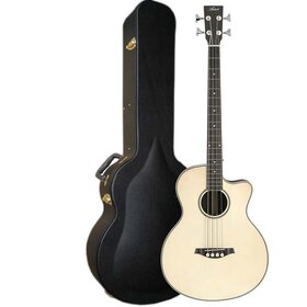 Artist ABJ50CEQ+C Acoustic Bass with Cutaway & EQ + Case - Natural