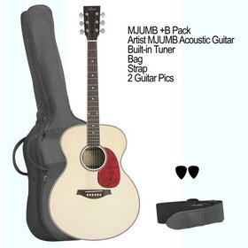 MJUMB+B Mini Jumbo Acoustic Guitar with built-in tuner and bag