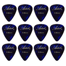 AP12A0.96 Blue Celluloid Guitar Picks - 0.96mm/ 12 Pieces