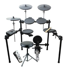 Artist EDK280 8 Piece Electronic Drum Kit -Complete Set with Headphones