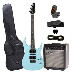 AG45BLUPK AG45 Electric Guitar Package with HSH Pickups and Trem -  Blue