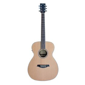 Artist OMC100EQ Acoustic Guitar, Solid Top OM Size with EQ
