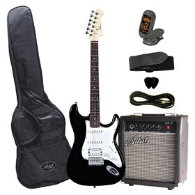Artist STHPKBK Electric Guitar Plus Amp & Accessories - Black