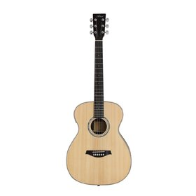 OM190EQ OM Size Solid Wood Acoustic Guitar with built-in tuner