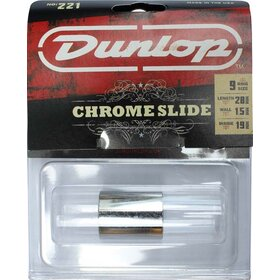 JD221 Jim Dunlop Chrome Guitar Slide - Medium Wall, Knuckle