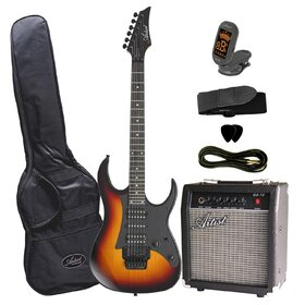 Artist AG34PKTSB Electric Guitar Pack + Amp - Tobacco Sunburst