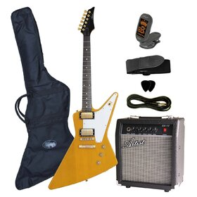 FLYPK Yellow FLY Body Electric Guitar + Amp & Accessories