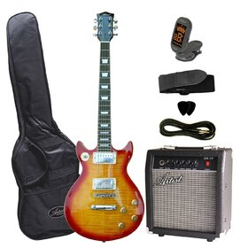 DC60CSBPK Artist Cherry Sunburst Electric Guitar with Wilkinson Pickups + Amp & Accessories