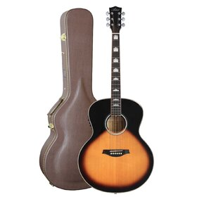 Artist J2EQ+C Acoustic Guitar, Solid Wood Jumbo-Large with EQ + Case