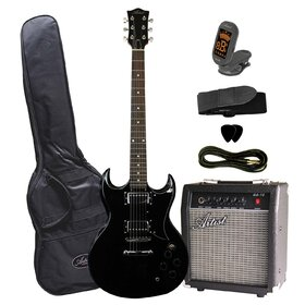 Artist SGPKBK Electric Guitar Plus Amp & Accessories - Black