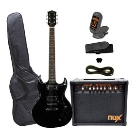 Artist SGBK Electric Guitar Plus Deluxe Amp & Accessories - Black