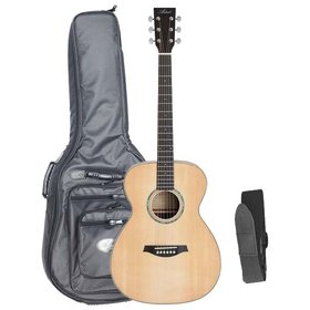 Artist OM60EQ+B Acoustic Guitar, Solid Top, OM Size with EQ + Bag
