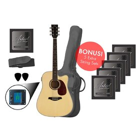Artist LSPCNT Beginner Acoustic Guitar *Bonus Strings Pack*