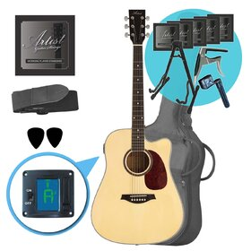 Artist LSPCNT Beginner Acoustic Guitar + Add-On Pack