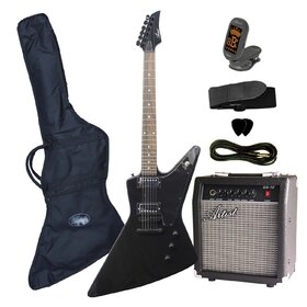 Artist FLYPKBK Black Electric Guitar Plus Amplifier Pack