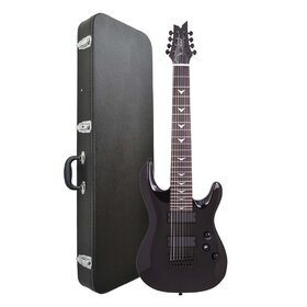 Artist Indominus8+C Electric 8 String Guitar Black Gloss + Case