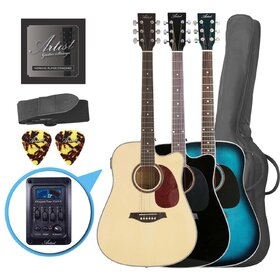 Artist LSPCEQ Beginner Acoustic Electric Guitar Pack with EQ