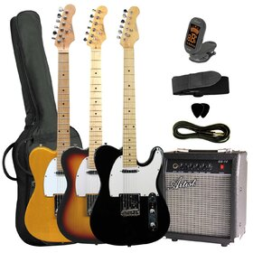 TC Style Electric Guitar Package with Amp & Accessories