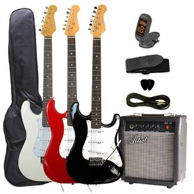 ST Style Electric Guitar Package with Amp + Accessories