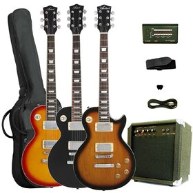 LP Style Electric Guitar Package (Basswood ) with Amp & Accessories