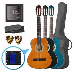 Artist CL34 - 3/4 Size Classical Guitar Value Pack, Nylon String