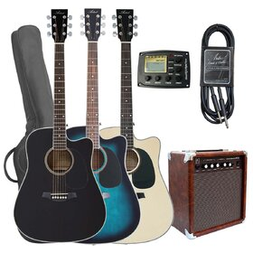 Artist LSPCEQPK Acoustic Electric Cutaway Guitar Pack with Amplifier