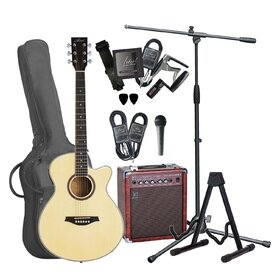 Artist Acoustic Guitar Busker Pack - Small Body