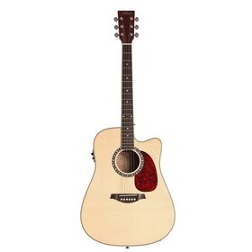 Artist DS120CEQ Acoustic Guitar, Solid Spruce Top Dreadnought with EQ