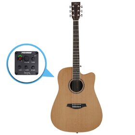 Artist DC200CEQHG Acoustic Guitar, Solid Top Dreadnought with EQ