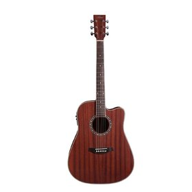 Artist DM120CEQ Acoustic Guitar Solid Mahogany Top Dreadnought with EQ