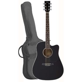 LSPCEQBK(BB)2 Black Acoustic Electric Cutaway Guitar Pack - Factory Second