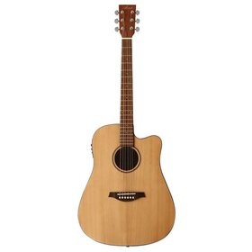 DCB350(BB) Damaged Solid Top  Dreadnought Acoustic Electric Guitar - Factory Second