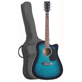 LSPCEQTBB (BB) Acoustic Electric Cutaway Guitar Pack - Blue - Factory fault