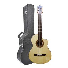 CS200+Case (BB) Solid Wood Nylon String Classical Guitar with Hard Case