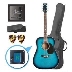 LSPTBB(BB) Blue Beginner Acoustic Guitar Pack - Factory Second