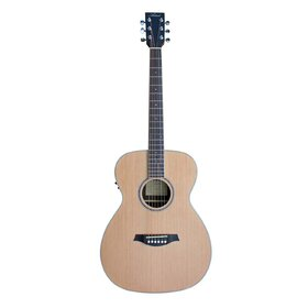 OMC100EQ (BB) OM Size Solid top Acoustic Guitar with built-in tuner - Factory Second - Headstock Blemish