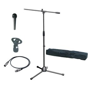 MSPKXX(BB) MIC Stand Pack (XLR-XLR) - Mic Stand, Bag, Clip and Cable