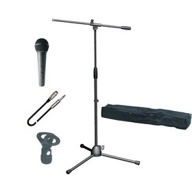 MIC STAND PACK (XLR-Jack) - Mic Stand, Bag, Clip and Cable