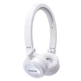 ML650WHITE(BB) Folding Headphones with Swiveling Earcup - Factory Second