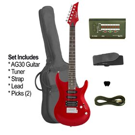 AG30TRDPLUS(BB) Artist Red Electric Guitar + Bonus Accessories - Factory Second