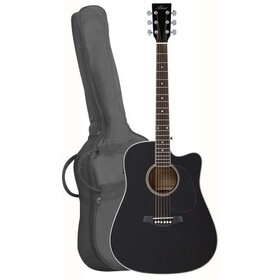 LSPCEQBK(BB) Acoustic Electric Cutaway Guitar Pack - Black