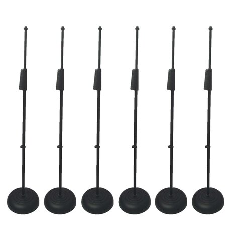 artist ms069 6pk straight mic stand with clutch and round base 6 pack. Black Bedroom Furniture Sets. Home Design Ideas